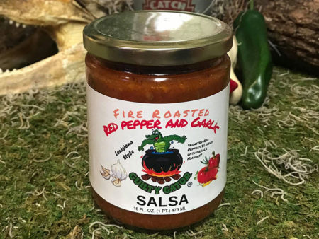 Fire Roasted Red Pepper & Garlic Salsa - Guilty Gator